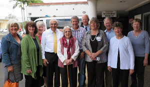 Thomas George MP (4th from left) with Bonalbo community members, NNSW LHD staff and Board Chair Dr Brian Pezzutti (3rd from right) at the announcement of funding to build a Multi Purpose Service in the upper Clarence town.