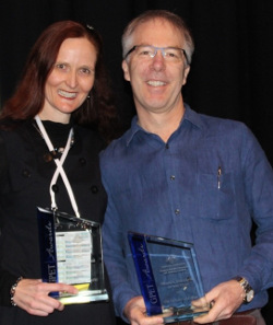 Joint Medical Educator winners… Northern Rivers Dr Genevieve Yates and Dr Gerard Ingham from Victoria.