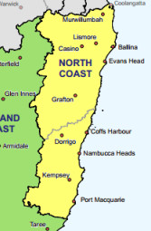 North Coast PHN Boundaries