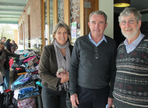 The Federal MP for Page, Kevin Hogan (Centre), with his wife Karen, and Paul Murphy, manager of The Winsome & Lismore Soup Kitchen, at Homelessness Connect day.