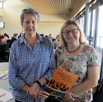Dr Sally Gibson (left) and Dr Carmen Jarrett from the NSW Health Ministry's Youth Health & Wellbeing Team.