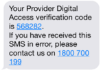 SMS code