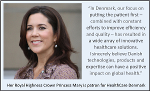 Her Royal Highness Crown Princess Mary, Patron of Healthcare Denmark