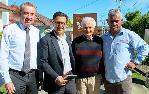 Federal MP for Page Kevin Hogan, North Coast Primary Health Network CEO Dr Vahid Saberi, Dr Andrew Binns and Rekindling the Spirit CEO Greg Telford.