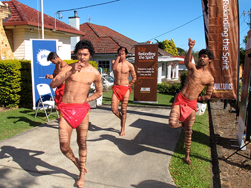 Traditional dancers who formed a close bond and honed their skills while class mates at Goonellabah Public School.