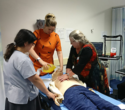 CPR training at Goonellabah Medical Centre