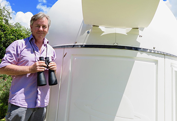 Dr Stephen Moore and his backyard observatory