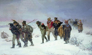 The French Retreat from Moscow, 1812