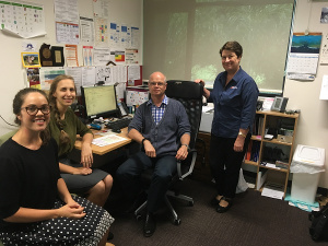 UOW Students Holly, Lara, GP Preceptor Nic Cooper and Practice Manager Carol Pachos – GP Super Clinic Grafton