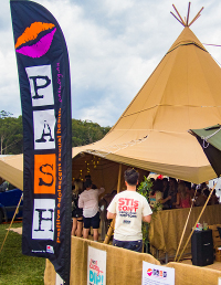 The VIPee Tent at Splendour