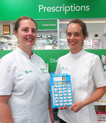 Natalie Green (left), pharmacist and proprietor of Terry White Chemmart Alstonville, and pharmacist Alannah Mann.