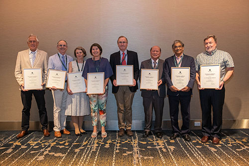 The photo features (L-R): Dr Ian Falson from Ballina, Dr Mark Rikard-Bell from Muswellbrook, Dr Delma Mullins from Muswellbrook,  Dr Neroli Lawrence from South Grafton, Dr Richard Abbott from Scone, Dr Peter Lee from Singleton, Dr Anil Thakur from Maclean and Dr Chris McKenzie from Ballina. Photo provided by NSW RDN