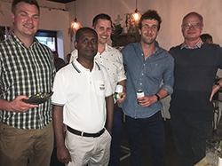 Pictured are medical students with preceptors from the Hospital and General Practice. (L-R) Medical student Jack Archer, GBH staff specialist Dr Kanewala Jayasekara , medical student Keiran Davis, medical student Felix Loschetter and GP Dr Nicholas Cooper.