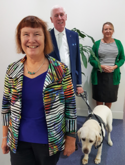 New HNC Board members Kerry Stubbs (front), Graeme Innes and  CEO, Julie Sturgess